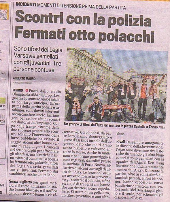 SCONTRI CON LA POLIZIA